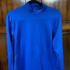 Men's Blue Nike Combat Pro Long sleeve shirt large